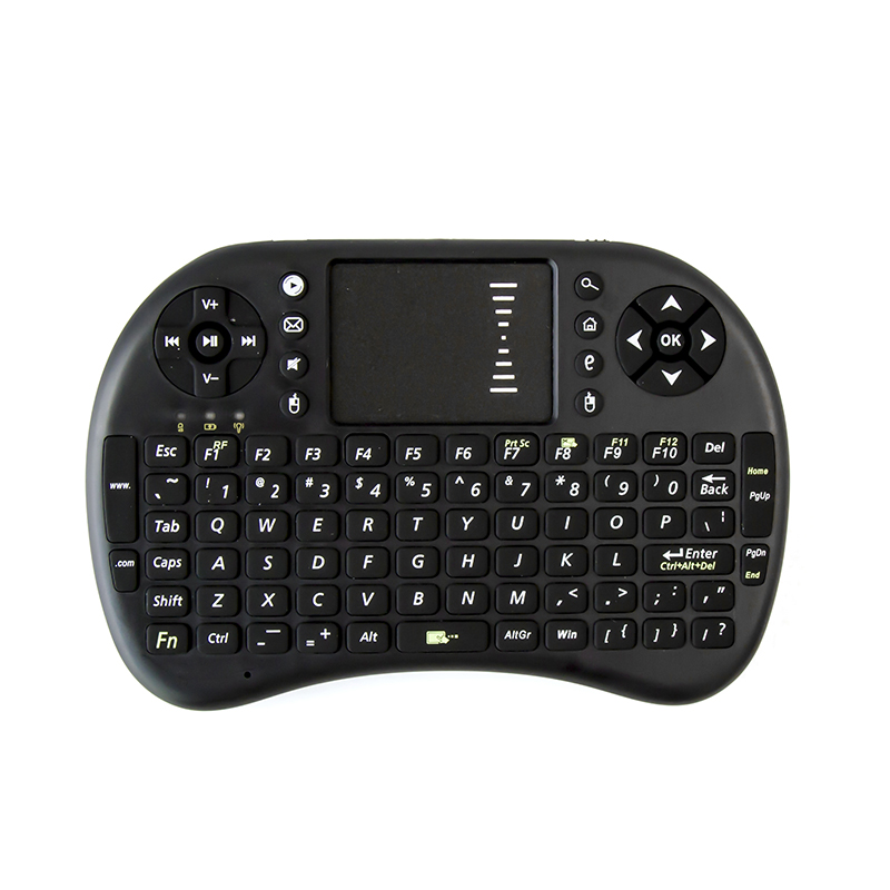 Gamer H7 2.4Ghz Mini Gaming Keyboard Wireless Keyboard and Multi Touchpad for PC Android TV Box PS3 and HTPC IPTV white&black(China (Mainland))