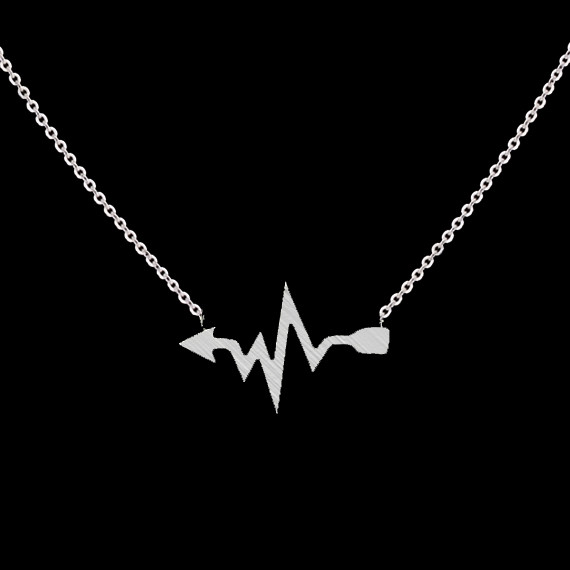 10pcs/lot 2016 Gold Silver Heart lines Jewelry Collier Femme Unique Fashion Heartbeat Necklace for Women Minimalist Jewelry(China (Mainland))