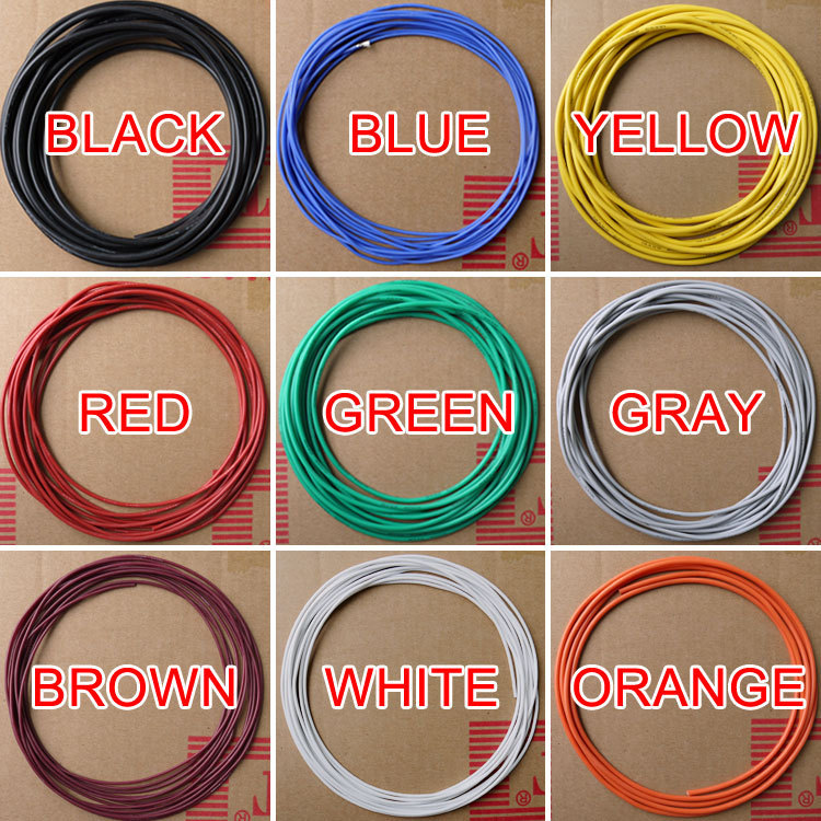 24AWG Flexible Silicone Wire Cable Soft High Temperature Tinned copper Color Selectable(China (Mainland))