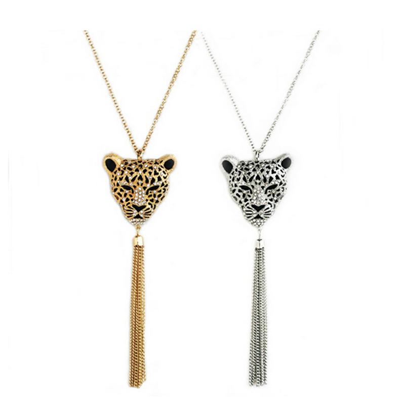 Retro Vintage Fashion Leopard Style Tassel Pendant Necklace Necklaces Wedding Party Celebration Say Love Gifts(China (Mainland))