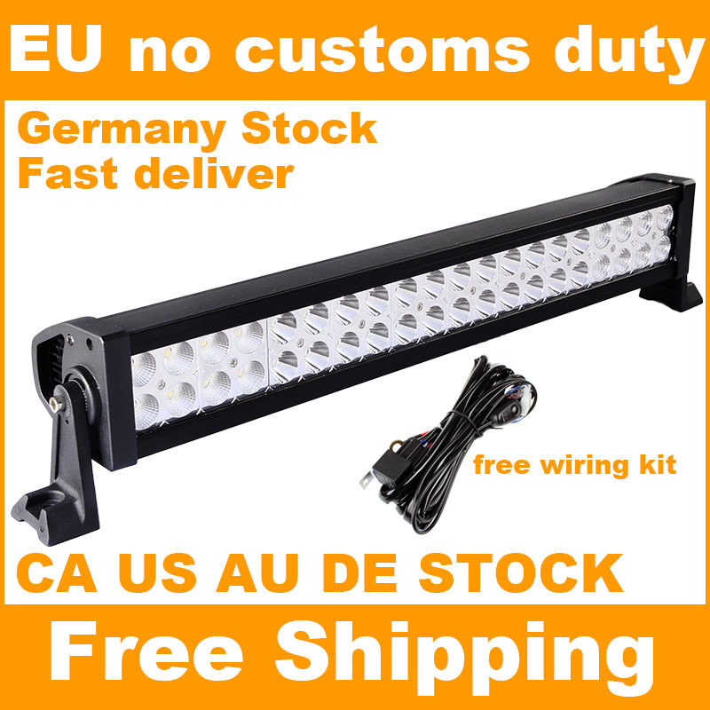 120W 22 inch Offroad LED Work Light Bar for Driving Tractor Boat Truck SUV ATV Car Garden Backyard 12V 24V with Wiring Kit(China (Mainland))