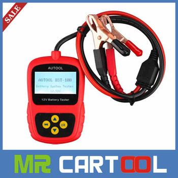 hot sale BST-100 Battery Tester BST100 English / French / Spansih / Russian BST 100 tester as bst-460 bst460 battery tester