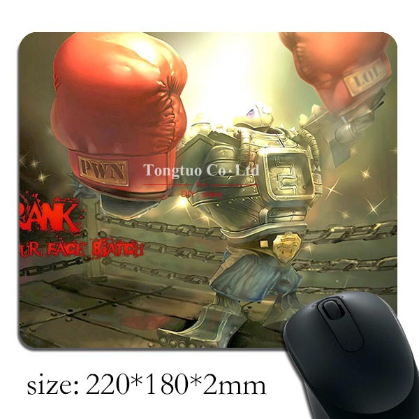 2015 hot sale league Legends boxer printed pattern gaming optical mouse mat notebook mice pads(China (Mainland))