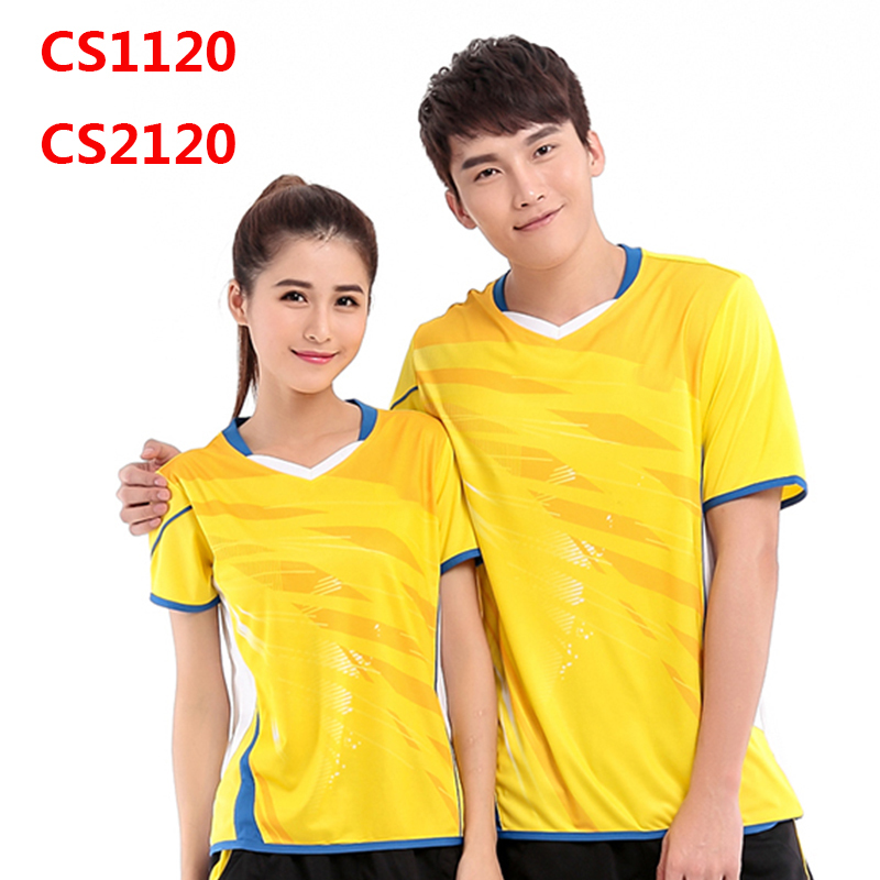 2015 Men And Women Badminton Shirt Young Quick Dry Badminton Round Neck Sport Tshirt CS1120 CS2120 Size M - 4XL(China (Mainland))