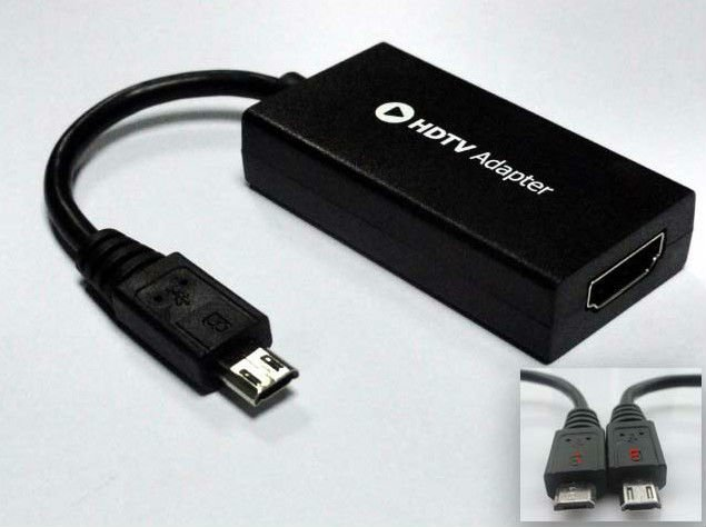 Free Shipping Newest 11pin Micro usb To HDMI MHL HDTV Adapter Mhl Cable For Samsung Galaxy S3 i9300 MHL05