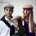 2016 Fashion Brand Men Women Children Black Khaki Gray Australian Wool Newsboy Cap Wholesale Female Male