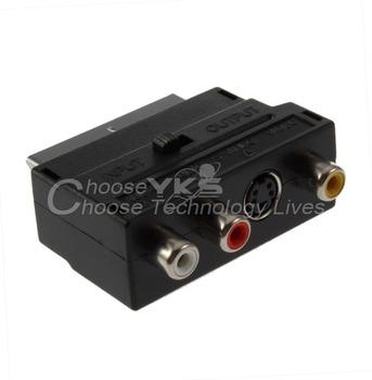 Brand New  S-Video AV TV Audio Adapter RGB Scart to Composite RCA