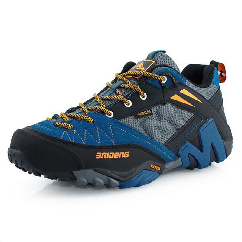 2015 new man's hiking shoes for outdoor walking climbing sneakers cushioning Slip resistant breathable leather increasing 22