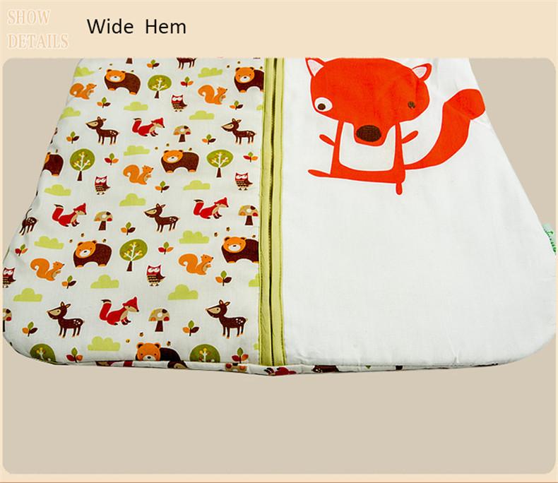 Baby Sleep Sack 100% Cotton Wearable Swaddling Blanket Dobby Prints Sleep Bag saco de dormir 2.5 Tog