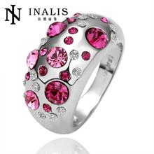 Free shipping hot sale R076   Free  Nickle Free  New Fashion Jewelry 18K Real Gold Plated Ring For Women (China (Mainland))