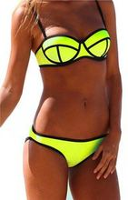 Free Shipping Bikini Set Swimsuit Patchwork Multi-Color Chic Swimwear Triangle Bathing Suit Summer Style 907(China (Mainland))