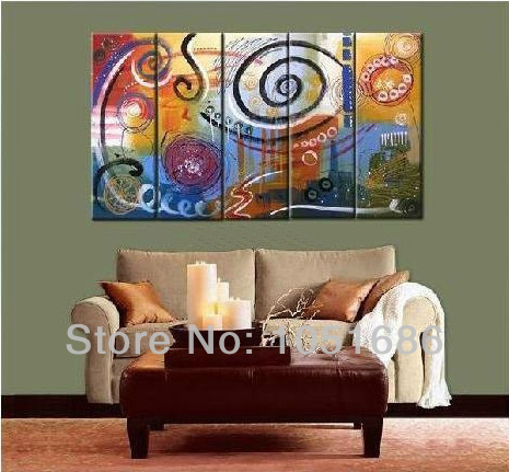 Hand Painted Picture Sets 5 Panel Wall Art No Framed