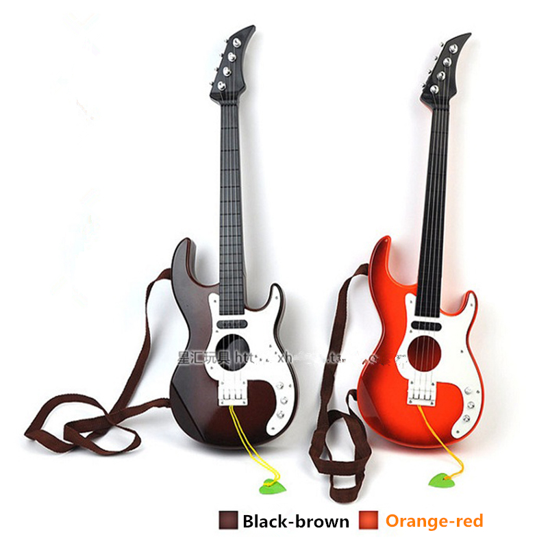 Hot sale 1pcs Plastic Guitar baby developmental musical kids instruments baby music toys Preschool children musical instruments(China (Mainland))