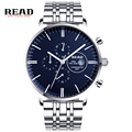 READ new fashion chronograph calendar display role luxury watch men waterproof full steel wristwatches 7006 Christmas