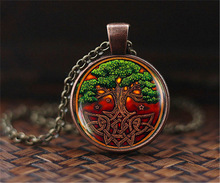 Buy SUTEYI Celtic Tree life Pocket Pendant Necklace, Irish Jewelry art dome glass Necklaces Vintage Accessories women gifts for $1.09 in AliExpress store