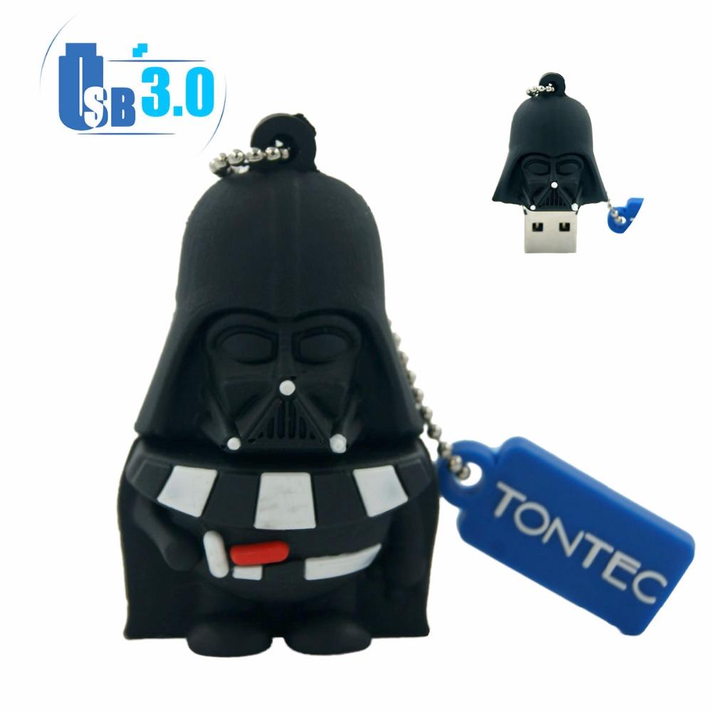 USB Star Wars Darth Vader Cartoon USB 3.0 USB Flash Drive 64GB 32GB 16GB 8GB Original Memory Stick Pen Drive Tested by H2testw(China (Mainland))