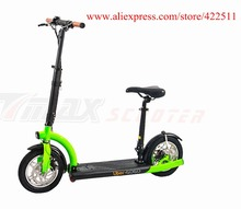 Buy 2016 Brand New 300W 36V Hub-motor Electric Scooter 10.4Ah Lithium Battery 2 Wheel Electric Scooter Seat for $509.99 in AliExpress store