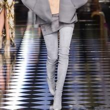 2019 Merk Herfst Winter Vrouwen Laarzen Lange Stretch Slim Dij Hoge Laarzen Mode Over de Knie Laarzen Hoge Hakken Schoenen vrouw(China)