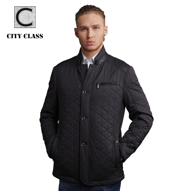 New men fashion casual slim fit sewing stand collar cotton jacket with leather free shipment