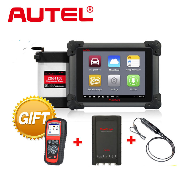 Autel MaxiSys Pro MS908P Car Bluetooth/WIFI Diagnostic / ECU Programming Tool with J-2534 System + TPMS TS601 + MP408 + MV105(China (Mainland))