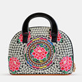 2016 New Ethnic Style Delicate Embroidery Shell Bag Women Fashion Casual Handbag Ladies Designer Small Bag