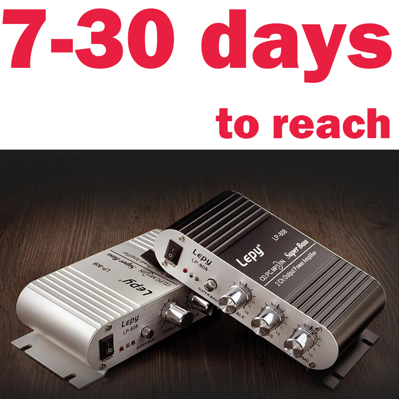 LP-808 Mini Hi-Fi Stereo Amplifier Mini Amp 20W X2 RMS Amp For Home Car Boat LEPY high quality HIFI digital amplifier audio(China (Mainland))
