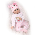 55cm Soft Body Silicone Reborn Baby Doll Toy For Girls NewBorn Girl Baby Birthday Gift To