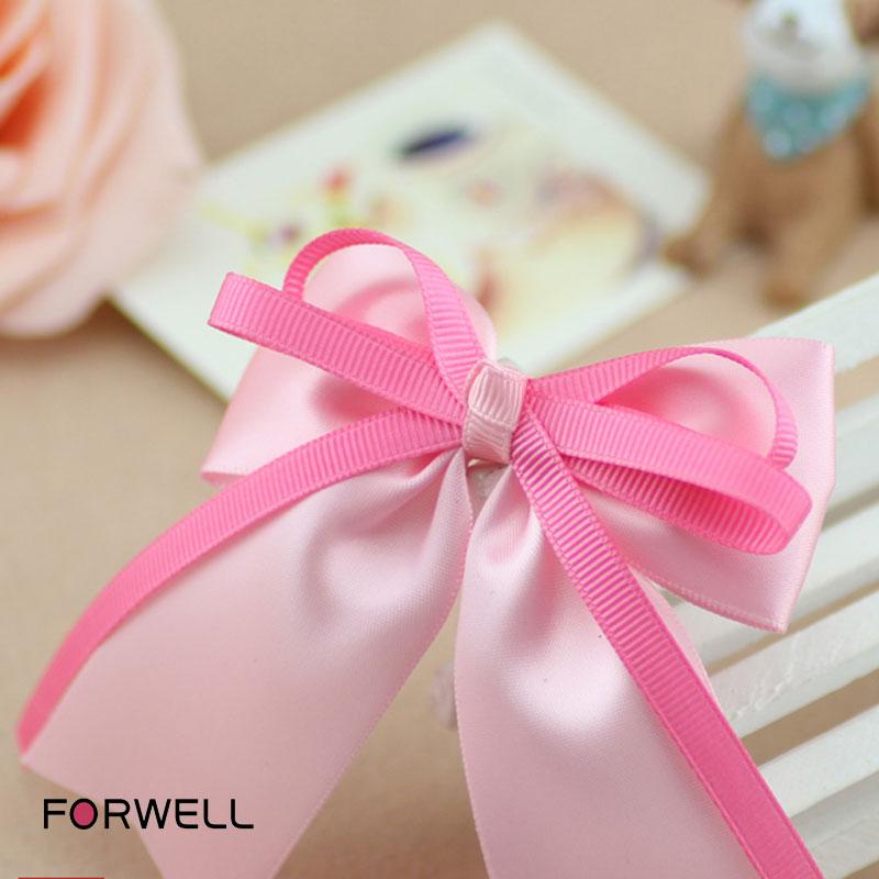 Korea cute long ribbon children hair ornaments handmade bow hairpins hair band baby girls headdress flower headwear(China (Mainland))