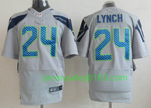 2016 Youth Seattle Seahawks #3 Russell Wilsons #12 Fan #24 Marshawn Lynch navy grey white green for Kids(China (Mainland))