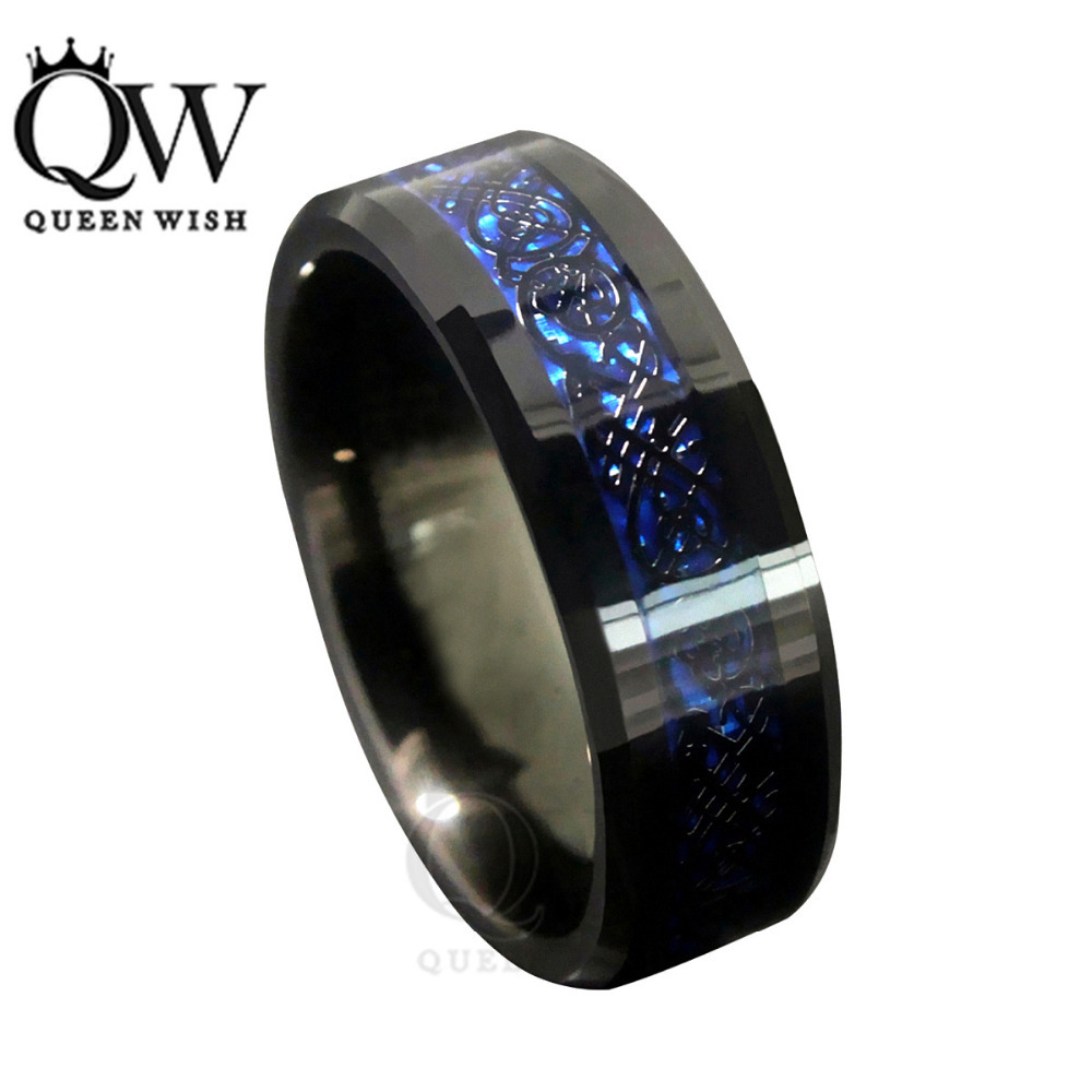 celtic dragon tungsten carbide ring matching wedding band mens