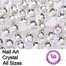 SS3 1440pcs/pack Glass Flatback Crystal Non Hotfix Nail Art Rhinestones