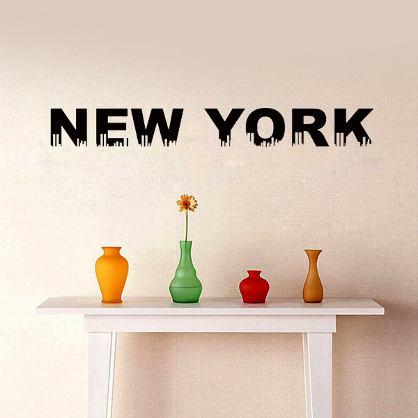 High Quality New York London Paris wall stickers World City Names Vinyl Decal coffee shop decoration Art Mural quote home decor(China (Mainland))
