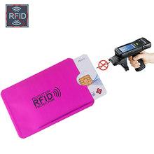 Anti Rfid portefeuille blocage lecteur serrure porte carte bancaire Id porte-cartes de banque Protection métal crédit NFC titulaire Aluminium 6*9.3cm(China)