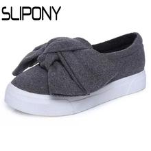 3cm black grey women autumn boots winter Fashion Women Flats Bow slipony Woman Platform Shoes Slip Espadrilles Creepers - woman Store store
