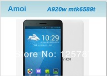 Free Shipping Amoi A920W 5 Inch MTK6589T Quad Core Android 4.2 IPS 1920X1080 2GB RAM 32GB ROM 13MP Dual Sim 3G GPS Cell Phone(China (Mainland))