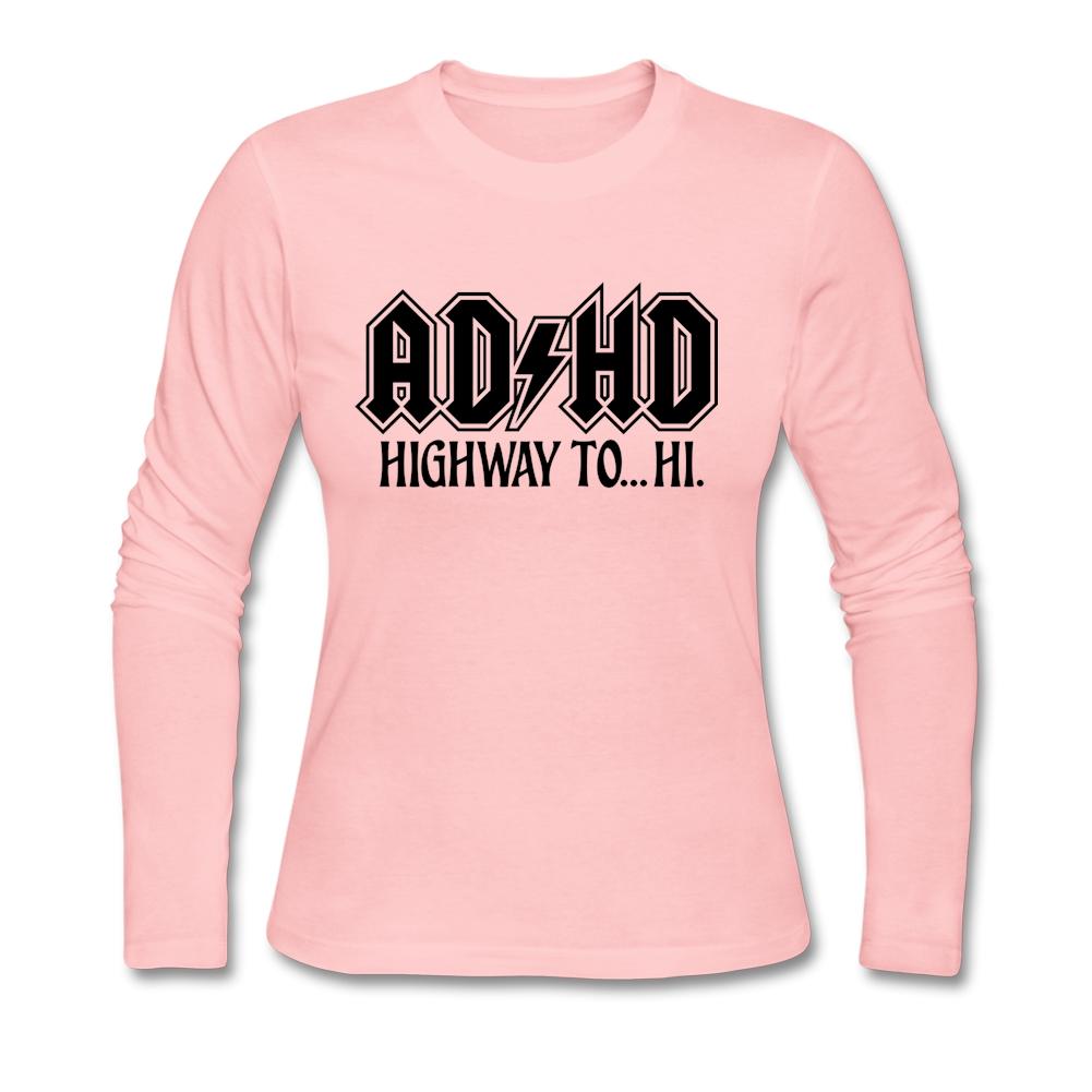 Shirt design generator - Fashion Teenage Long Sleeved Clothing O Neck Creative Design Tee Shirt Adhd Rock Band Logo