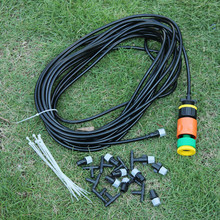 10 m/33 Ft Outdoor Garden Misting Cooling System + 10 Plastic Mist Nozzle Sprinkler Watering & Irrigation Watering Kits(China (Mainland))