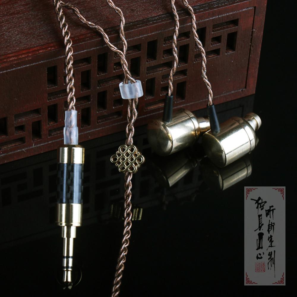 New FENGRU R5 Hand-Made 1 DD + BA Drive Unit Hybird Technology earphone HiFi earpiece Units Monitor earphone DIY Bass Earphones