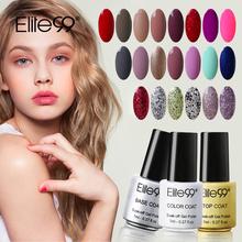 Elite99 7ml Nail Polish Bright Colorful Color Polish Gel Lacquer UV LED Soak Off Nail Art Nail UV Gel polish(China (Mainland))