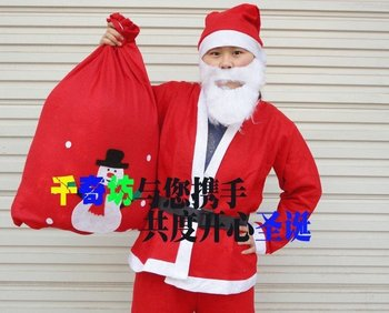 Free shippping chirstmas men's  boy's  children's kid's santa clothes christmas dress up decoration clothes wholesell 2 sizes