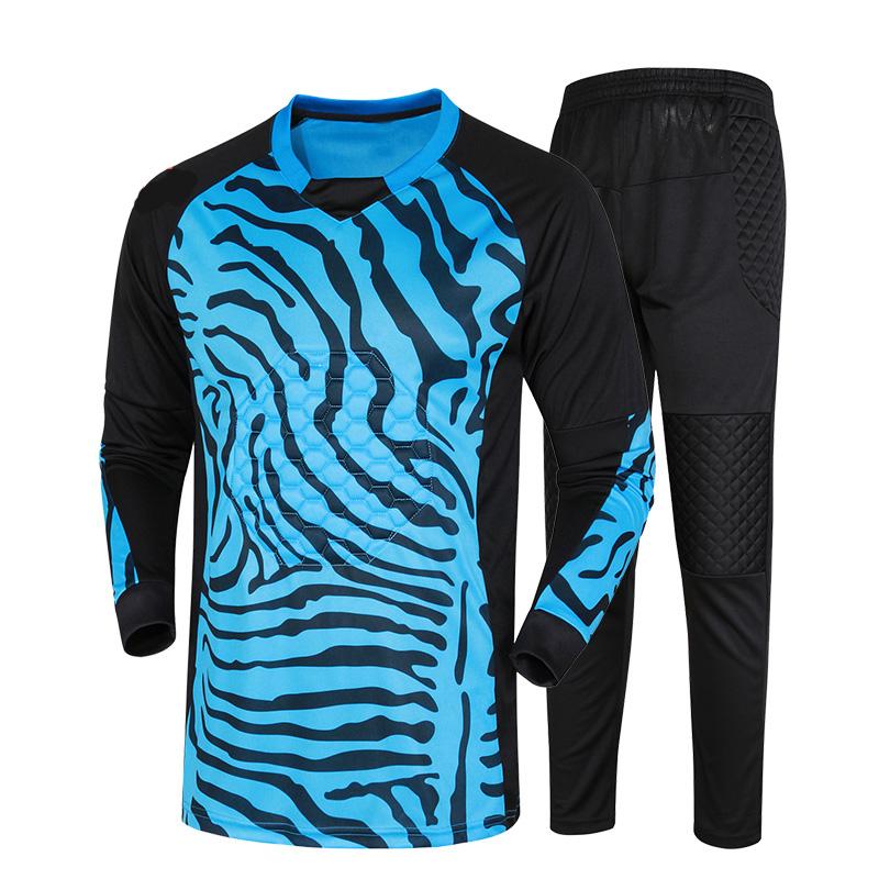 Adult Breathable Quick dry polyester Long Sleeve Goalkeeper Jerseys Goalkeeper uniform Sets new mens goalkeeper sets boys jersey(China (Mainland))