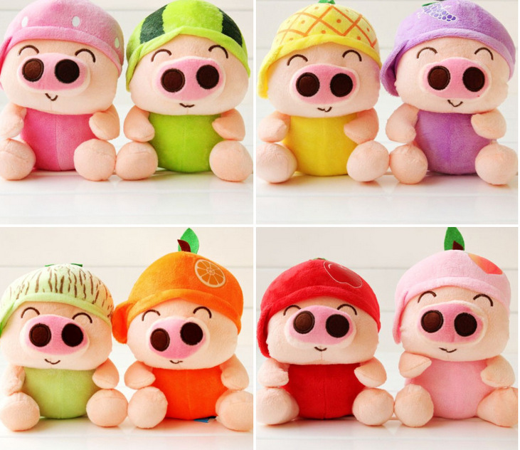 creative fruits design cute Mcdull pig plush toy about 18cm soft toys one lot / 8 peices,party activity gift birthday gift b4967<br><br>Aliexpress