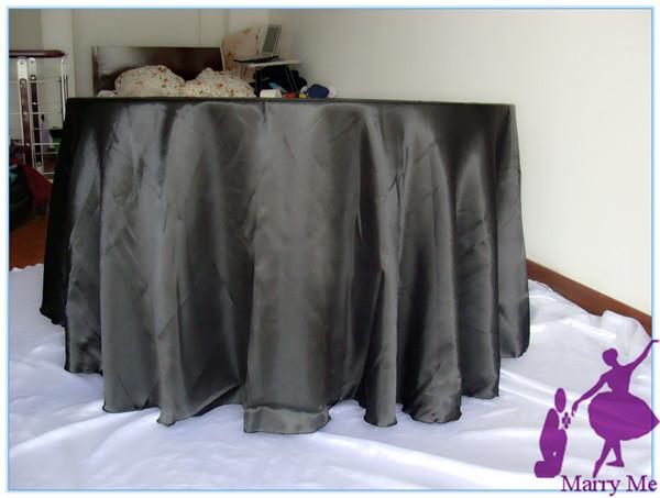 Free shipping 10pcs Wedding Decoration Satin Table Cloth Many Colors(China (Mainland))