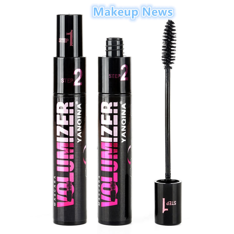 1 pcs double adjustable quantity mascara Long thick coils become warped waterproof and shading Cosmetics brand(China (Mainland))