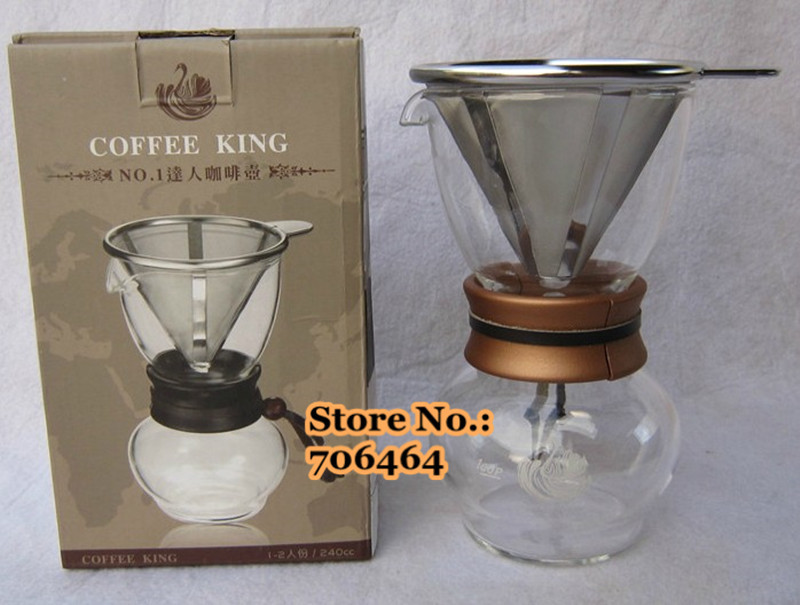 Aliexpress.com : Buy Free shipping Stainless steel filter coffee dripper/coffee driper 480cc ...