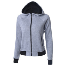 2016 Women New Autumn Winter Solid Color Cotton Fleece Jacket Pockets Button Coat Hoodies women Sport Sweatshirts(China (Mainland))