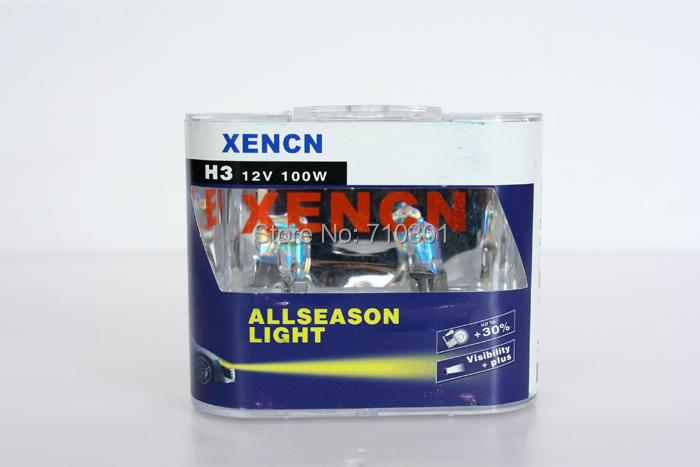 Free shipping fee car headlight XENCN halogen lamp ALL SEASON golden eyes 100W 12V 2300K H3 ZG62201ALS PK22S Made In CHINA(China (Mainland))
