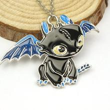 wholesale cartoon How To Train Your Dragon 2 Toothless Night Fury pendant Necklace(China (Mainland))