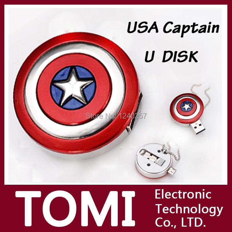 usb flash drive Real capacity Captain America pendrive OTG flash card 8G/16G flash memory stick drive USB2.0 usb flash pen drive(China (Mainland))