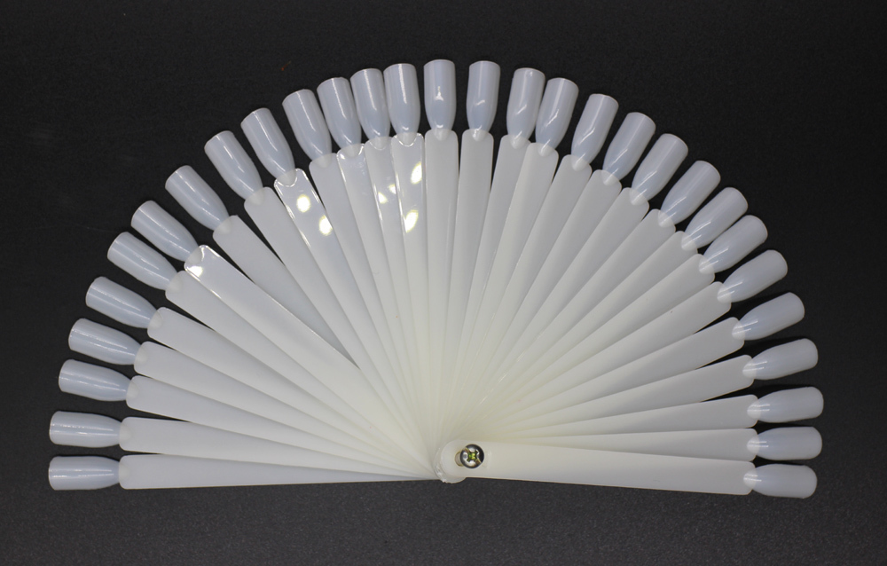 50pcs Natural Color Prastic False Nail Art Tips Sticks Polish Display Fan Board Nails Tools#ND-50C(China (Mainland))